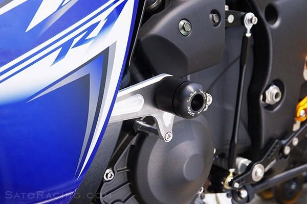 Sato Racing No-Cut Frame Sliders 2009-2014 Yamaha YZF-R1