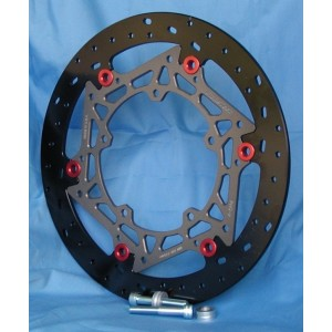 BrakeTech Ductile Iron 320 x 6mm Race Spec Rotors Kit - 2015-21 YZF-R1 / R1M