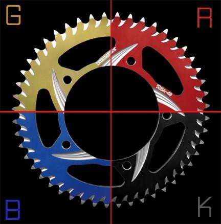 Vortex Racing Aluminum Anodized Rear Sprocket - Aftermarket Wheels - OZ, Marchesini, CoreMoto, BST, Rotobox