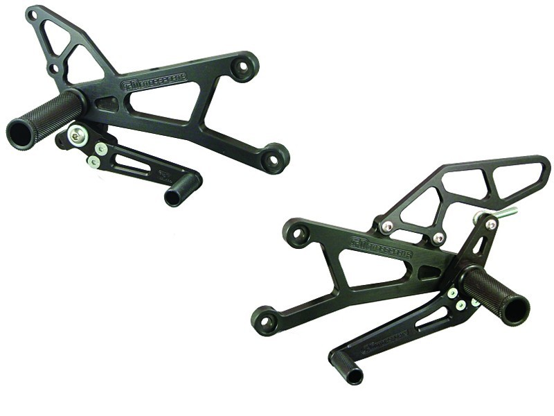 Woodcraft Standard-Shift Rearset Kit - Yamaha YZF-R1 (2007 - 2008)