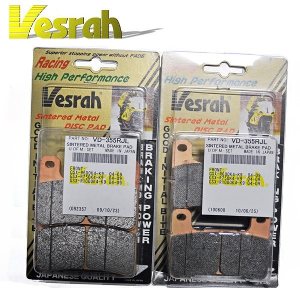Vesrah VD-355 RJL Brake Pads - ZX-10R, GSX-R1000/750/600, Hayabusa, Z1000