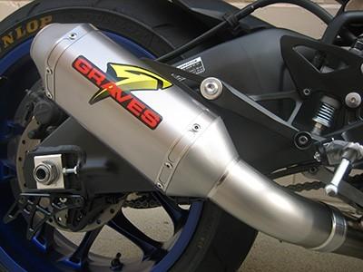 Graves Motorsports 2015-17 Yamaha YZF-R1 / R1M Short Cat Eliminator Titanium Exhaust System
