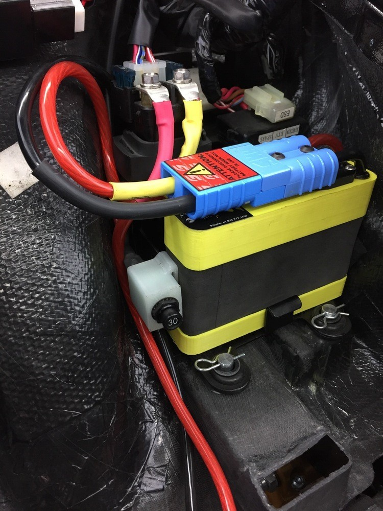 Speedcell Legacy 2.5Ah Supersport Battery with Universal Ring Terminal Harness