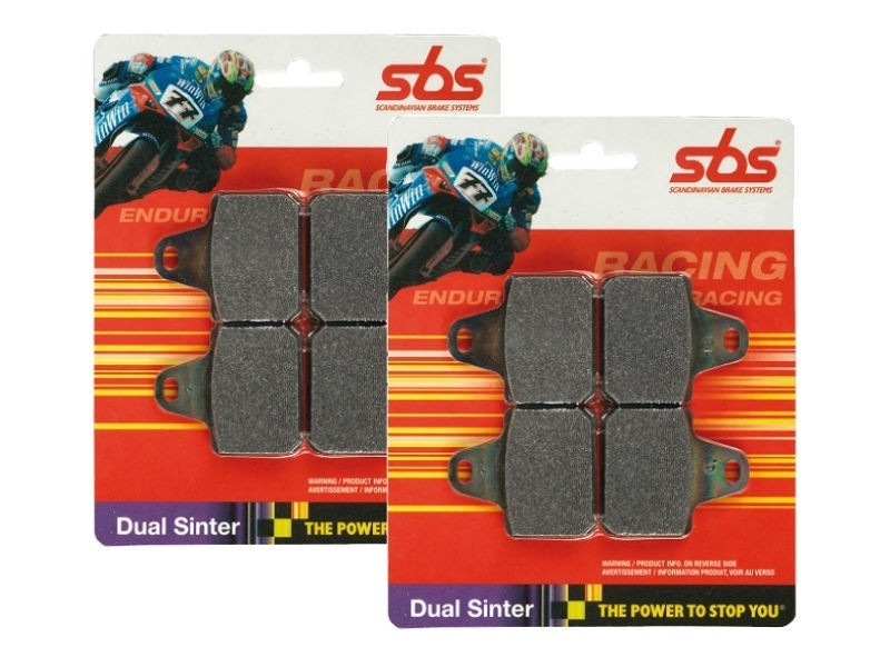 SBS Dual Sinter Brake Pads - Yamaha YZF-R1 and Yamaha YZF-R6 - 634DS