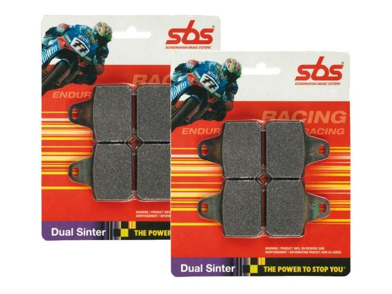 SBS Dual Sinter Brake Pads - 2007-2016 Kawasaki ZX-6R - 838DS