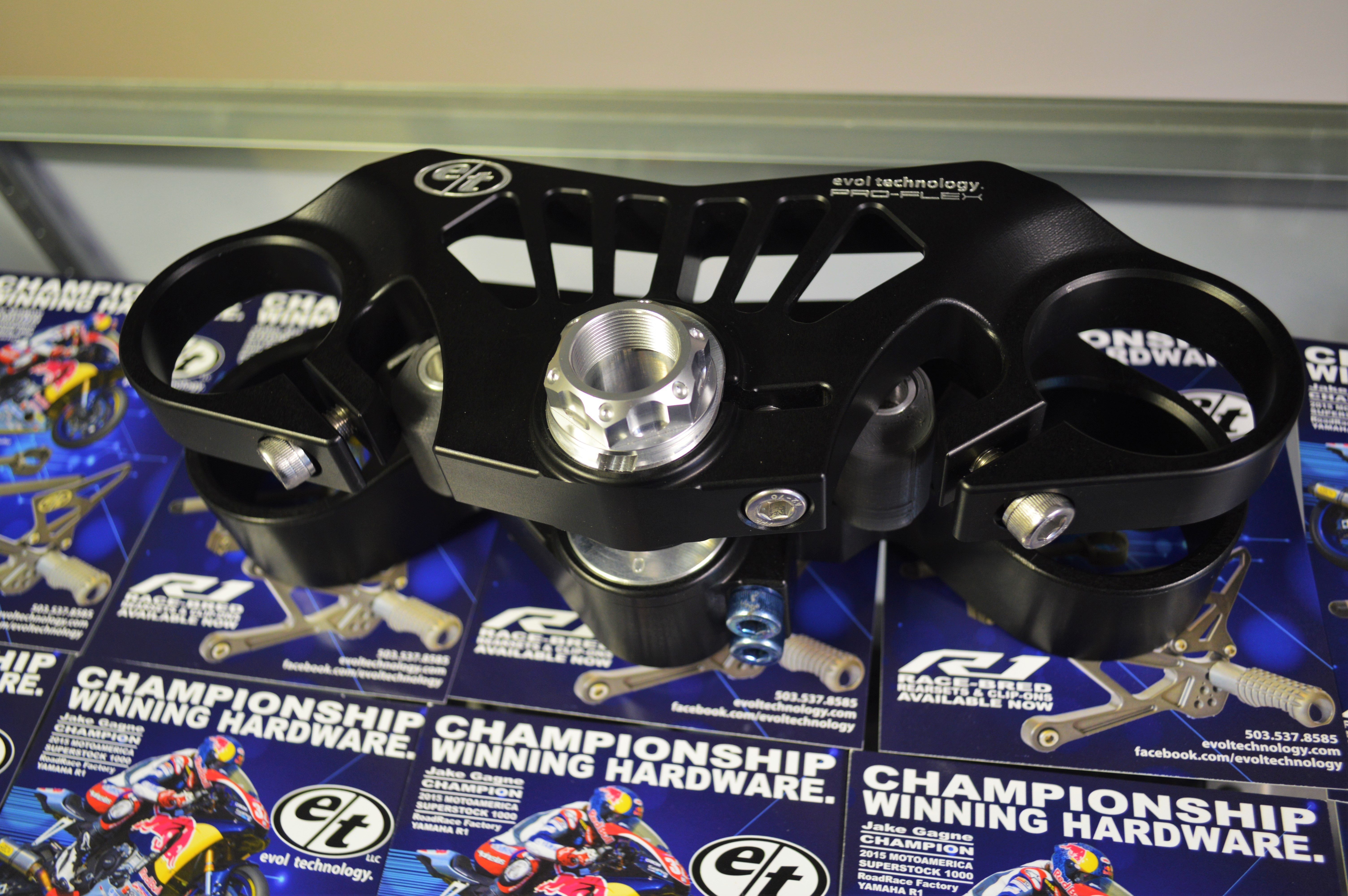 Evol Technology Pro-Flex Rake-Adjust Superbike Fork Triple Clamp Kit - 2015-19 Yamaha YZF-R1