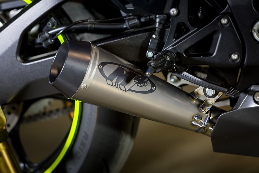 M4 2017 Suzuki GSXR 1000 GP Full Exhaust System With Full Stainless Steel Tubing and Titanium muffler