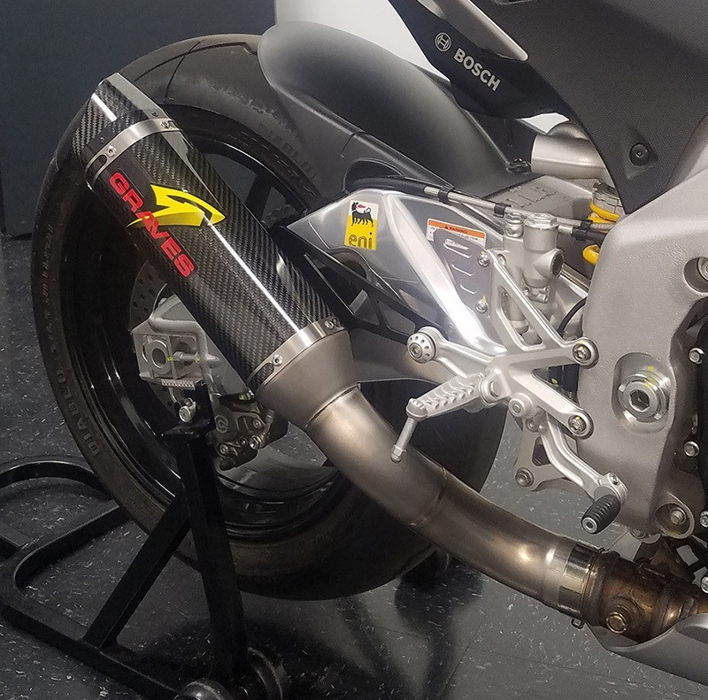 Graves Motorsports Aprilia RSV4 Cat Eliminator Exhaust Carbon Fiber