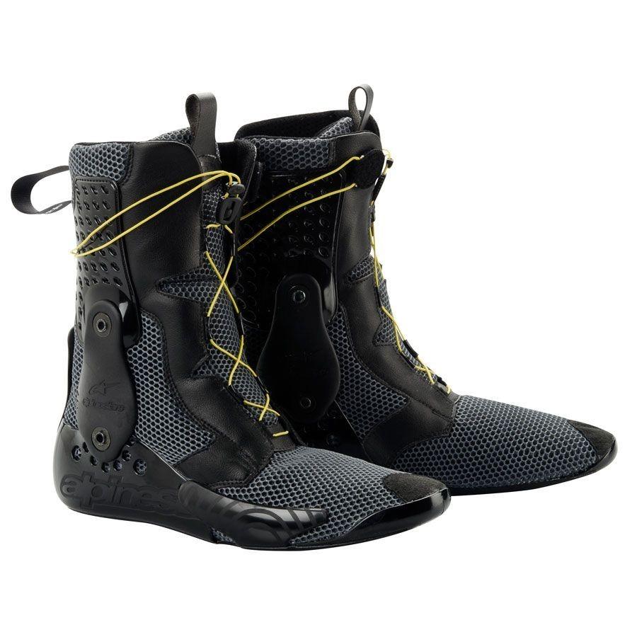 Alpinestars SuperTech R Boots Black / Fluorescent Yellow /White