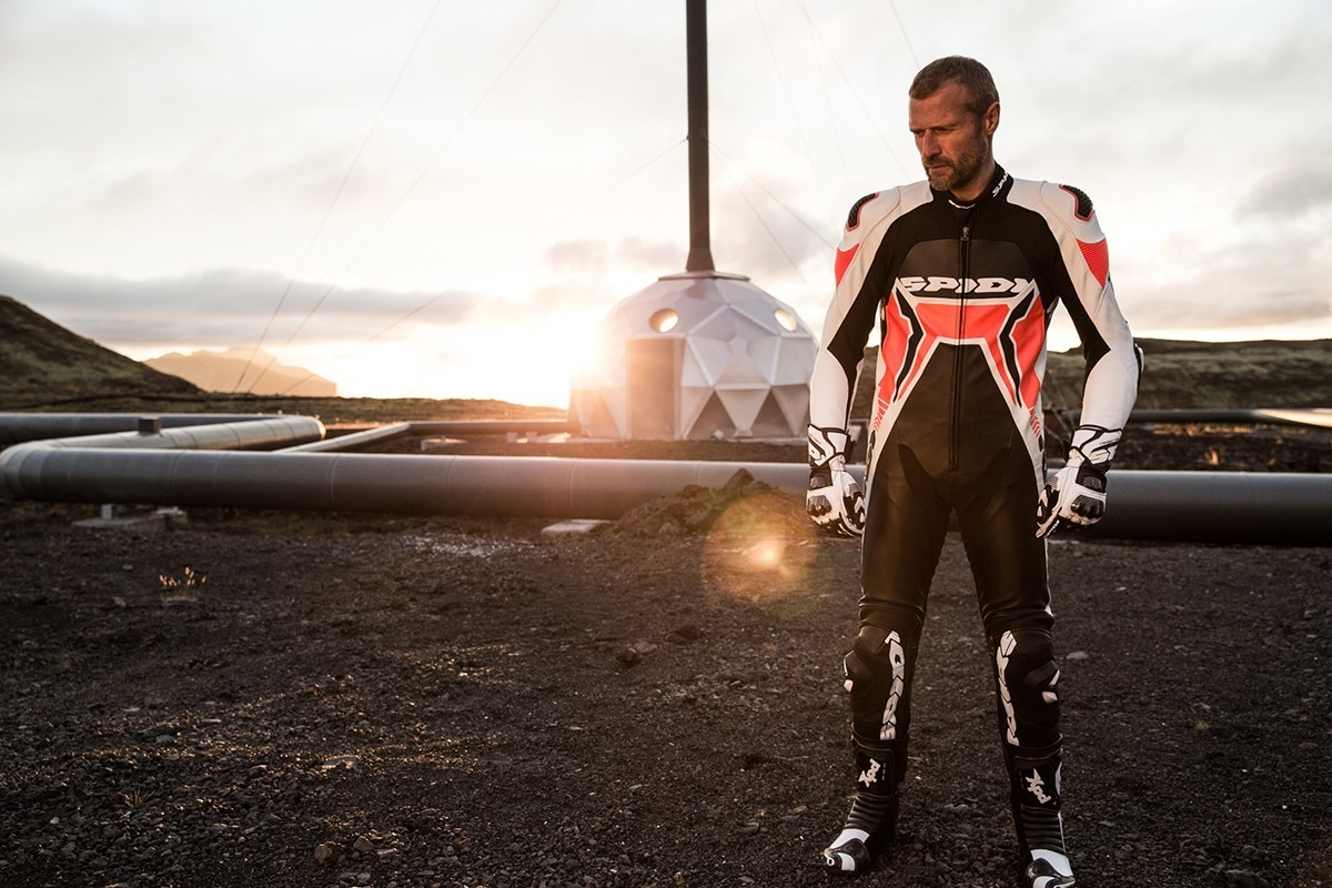 Spidi Warrior 2 Wind Pro Leather Race Suit - Black / White